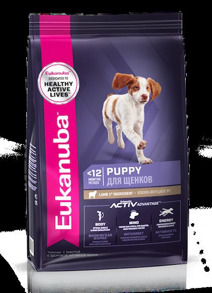 Eukanuba Puppy All Breed Lamb -3D Left Justified –RUS