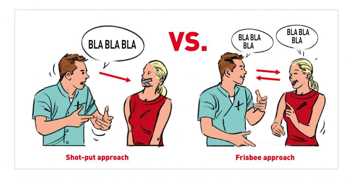 """A abordagem chamada """"Frisbee"""" é muito mais poderosa do que a do que """"Shot-put""""."""