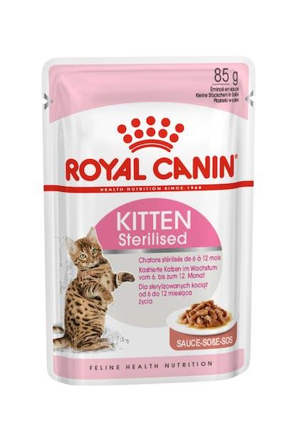 Πλήρης και ισορροπημένη τροφή για γάτες - Για στειρωμένα γατάκια (από 6 έως 12 μηνών)