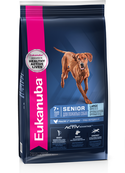 Eukanuba Senior Large Breed– 3D Left Justified – RUS