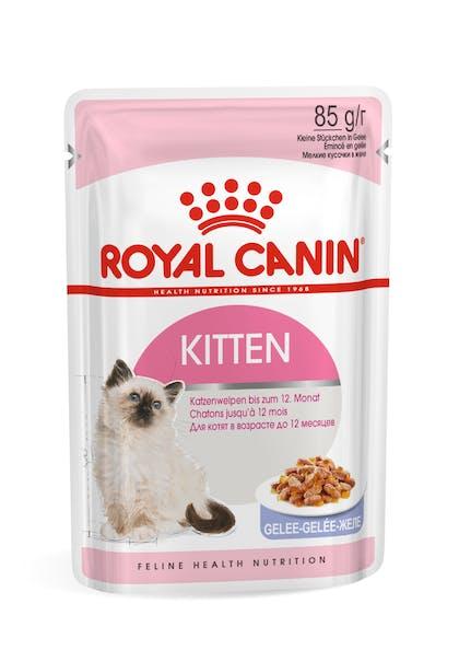 Πλήρης τροφή για γάτες και γατάκια στη δεύτερη φάση ανάπτυξης έως 12 μηνών (ψιλοκομμένες φέτες σε ζελέ)