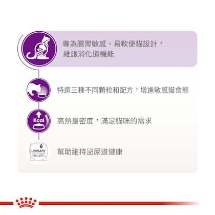 腸胃敏感成貓S33_產品賣點