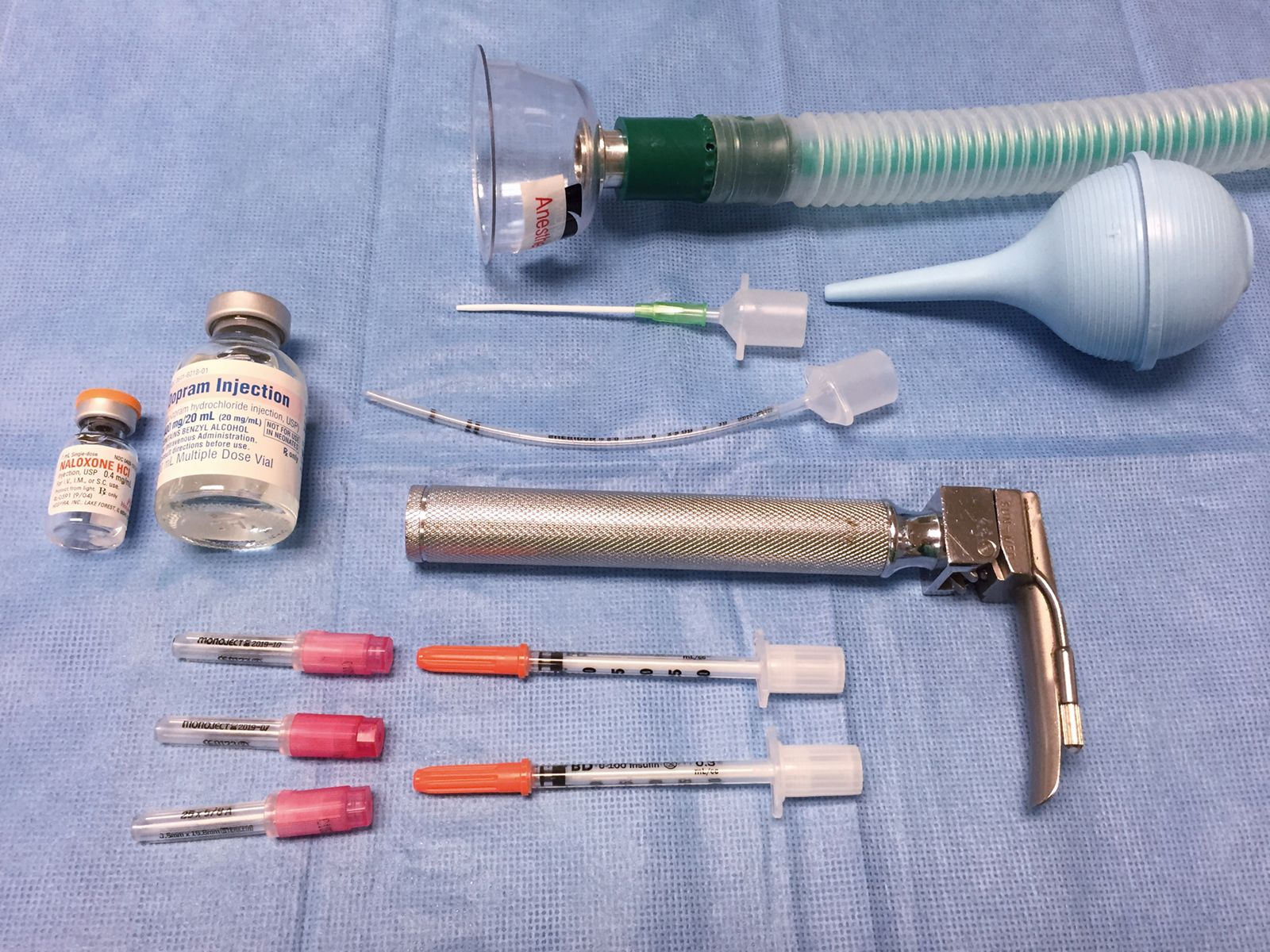 Resuscitation equipment and drugs should be organized before induction of anesthesia.