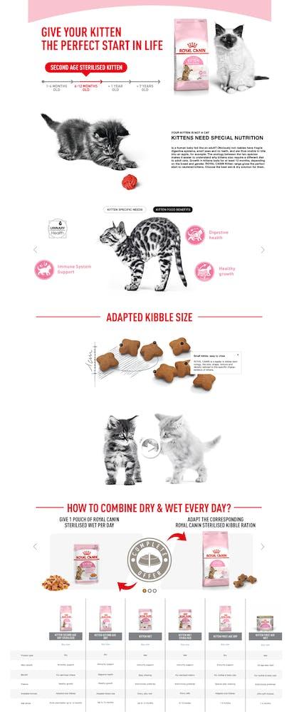 FHN Kitten Second Age Sterilised Dry A+ Premium (Desktop + Mobile)