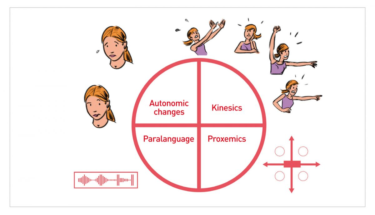 Figure 1. There are four kinds of non-verbal communication. Do you know which one you use the most?