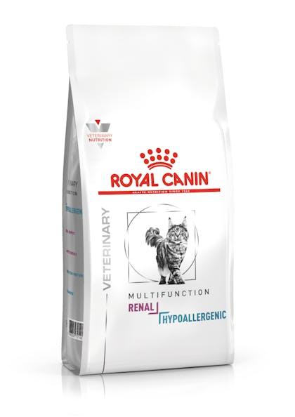 VHN-VITAL SUPPORT-RENAL + HYPOALLERGENIC CAT DRY-PACKSHOT