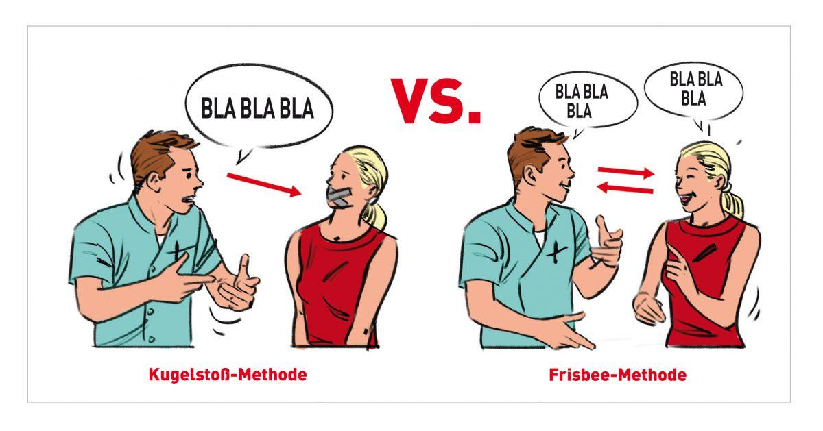 """Die so genannte """"Frisbee""""-Methode ist sehr viel effektiver als die """"Kugelstoß""""-Methode."""