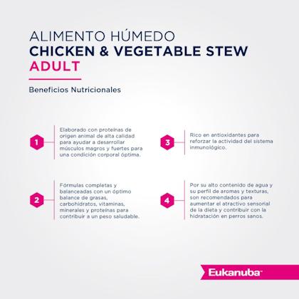 Eukanuba Lata Adult Chicken & Vegetables Stew - Pollo y Vegetales (trozos en salsa)