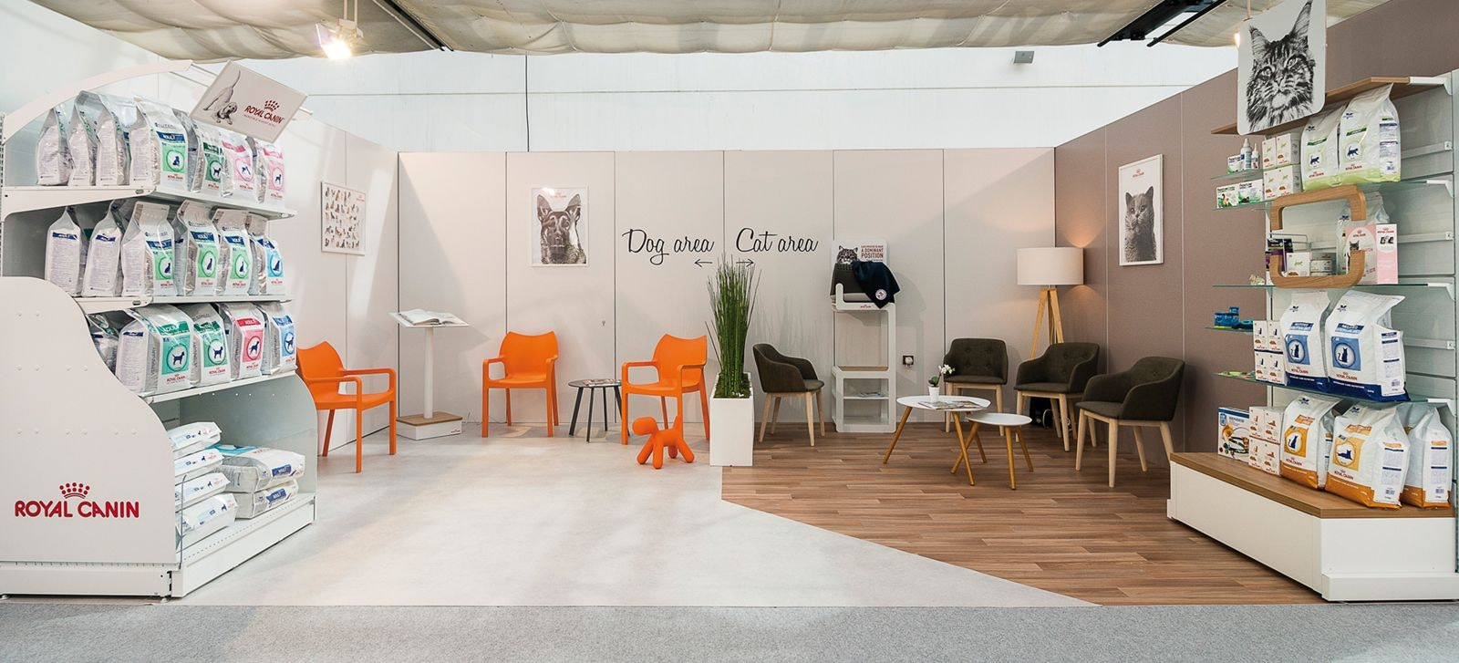 Example of a professional-looking waiting room.  All the mistakes above were fixed and the following facilities were added: 1. Separated waiting areas for dogs and cats with cat carrier trees.