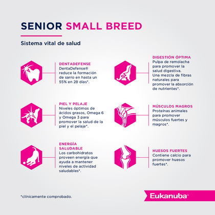 Eukanuba Senior Small Breed - Senior Talla Pequeña
