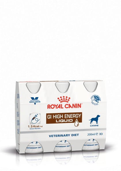 ICU cluster packshot GI High Energy Liquid Dog