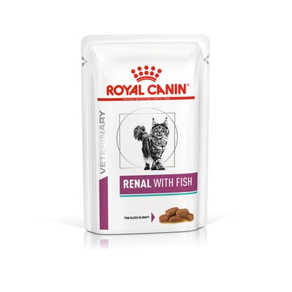 VHN-VITAL SUPPORT-RENAL CAT WET FISH CIG POUCH 85GR-PACKSHOT