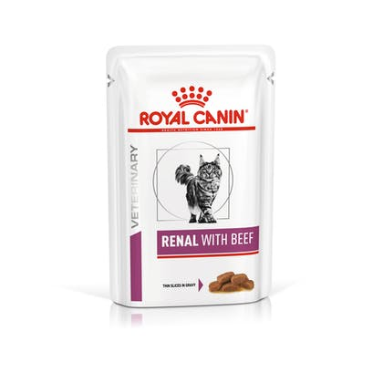 VHN-VITAL SUPPORT-RENAL CAT WET BEEF CIG POUCH 85GR-PACKSHOT