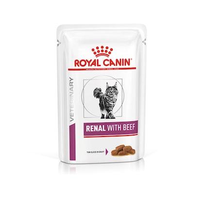 VHN-VITAL SUPPORT-RENAL CAT WET BEEF CIG POUCH 85GR-PACKSHOT