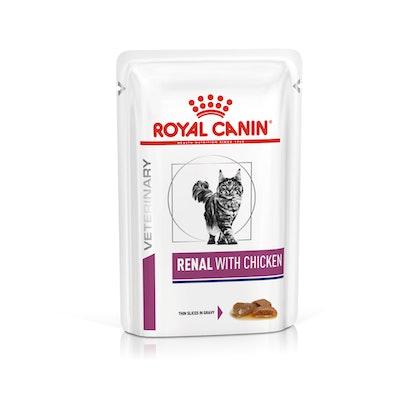 VHN-VITAL SUPPORT-RENAL CAT WET CHICKEN CIG POUCH 85GR-PACKSHOT