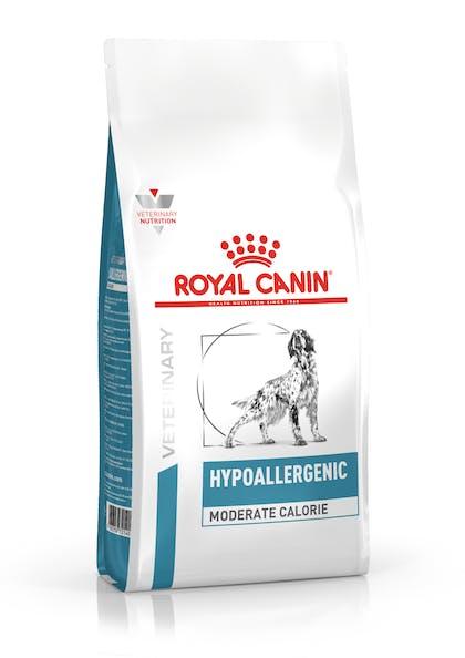 VHN-DERMATOLOGY-HYPOALLERGENIC MODERATE CALORIE DOG DRY-PACKSHOT-B1