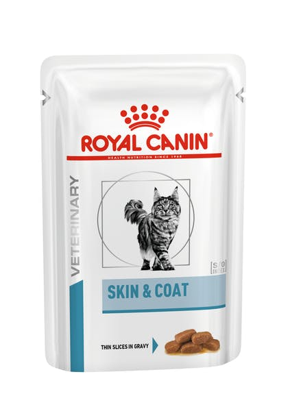 VHN DERMATOLOGY-SKIN & COAT CAT WET POUCH-POUCH PACKSHOT B1