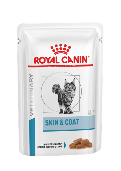 VHN DERMATOLOGY-SKIN & COAT CAT WET POUCH-POUCH PACKSHOT B1RU