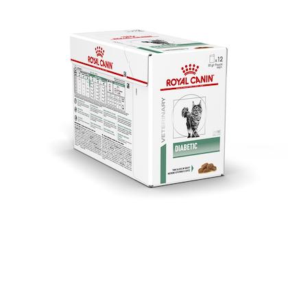 VHN-WEIGHT MANAGEMENT-DIABETIC CAT POUCH-PBOX CLOSED PACKSHOT