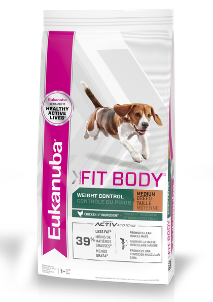 EUKANUBA - FIT BODY WEIGHT CONTROL MEDIUM BREED - PACKSHOT - EN/FR/SP