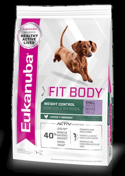 EUKANUBA - FIT BODY WEIGHT CONTROL SMALL BREED - PACKSHOT - EN/FR/SP